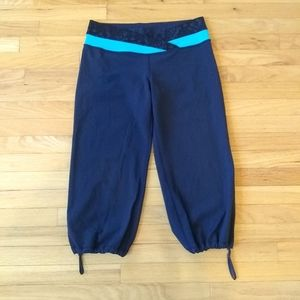 Lululemon Navy Blue Drawstring Workout Pants